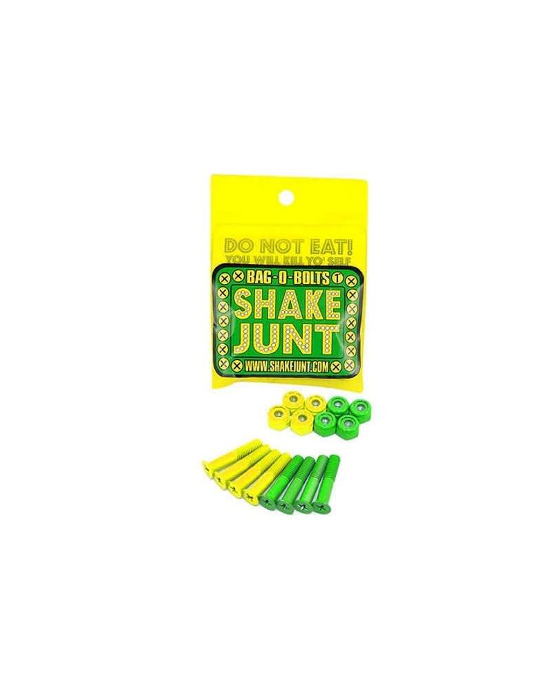 """7/8"""" PHILIPS BAG-O-BOLTS HARDWARE ALL GREEN/YELLOW"""