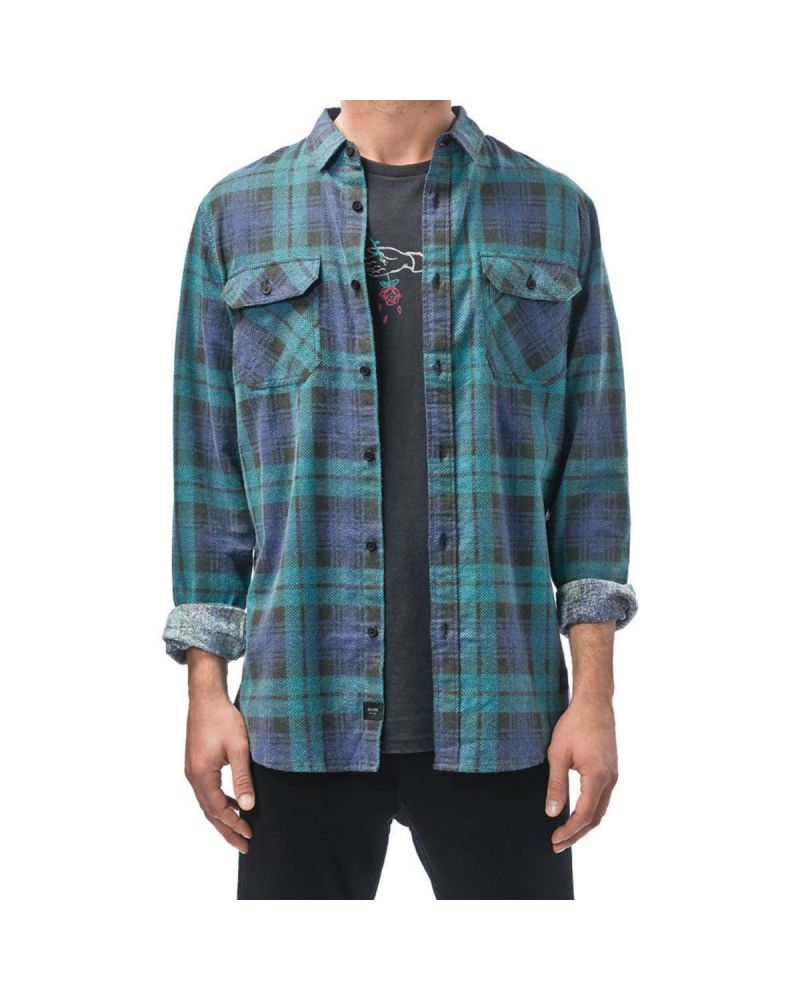 GLOBE Dion Naples LS Shirt - Breeze Green