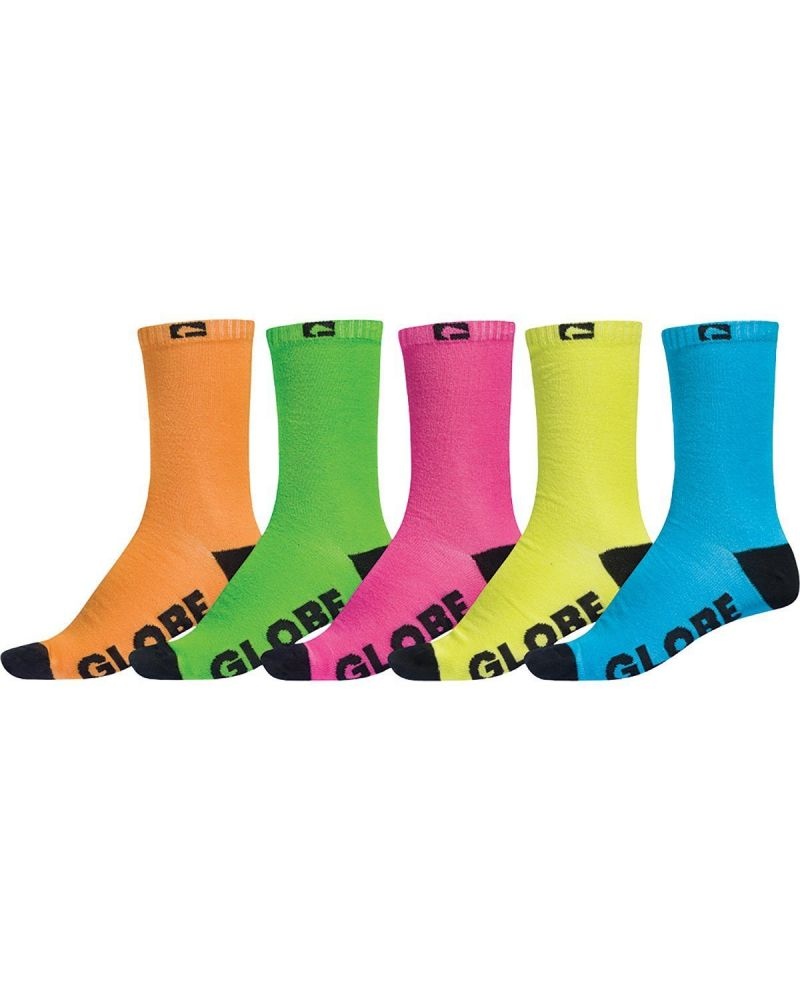 NEON CREW SOCK 5 PACK	Assorted