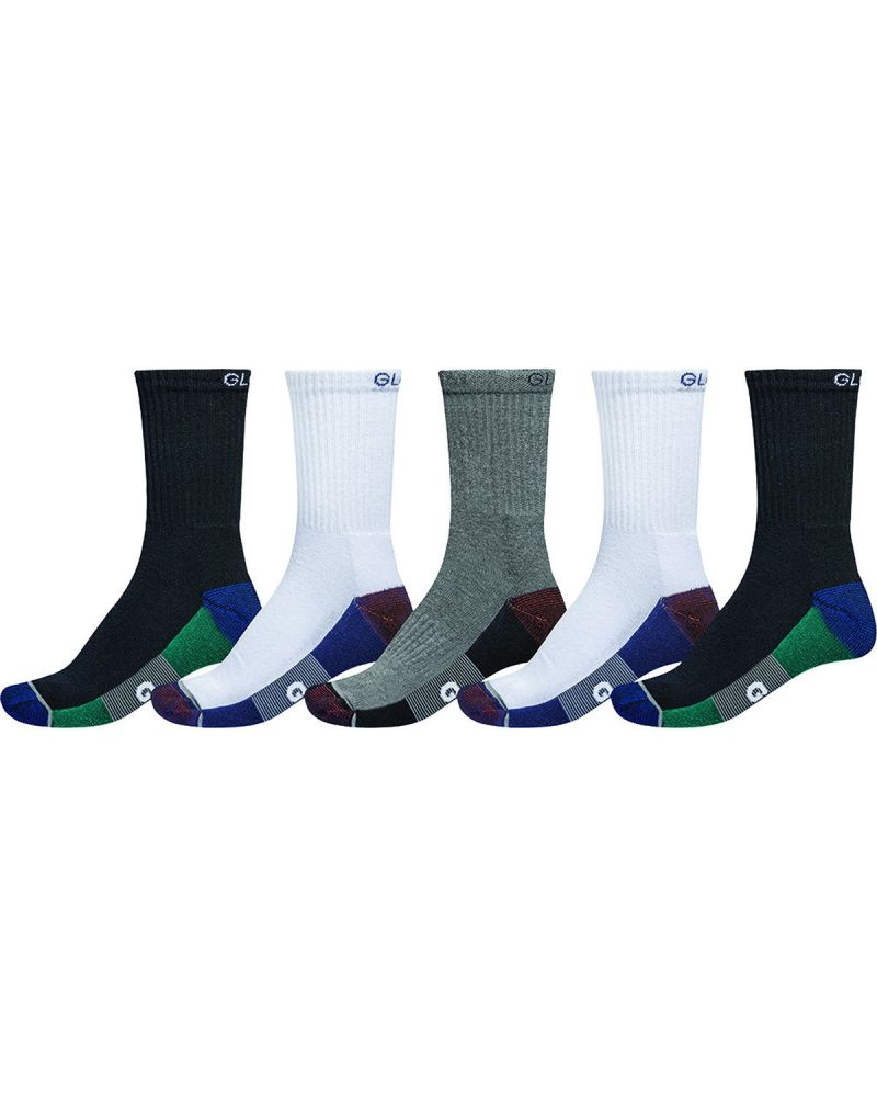EVAN CREW SPORT SOCK - White/Navy/Black