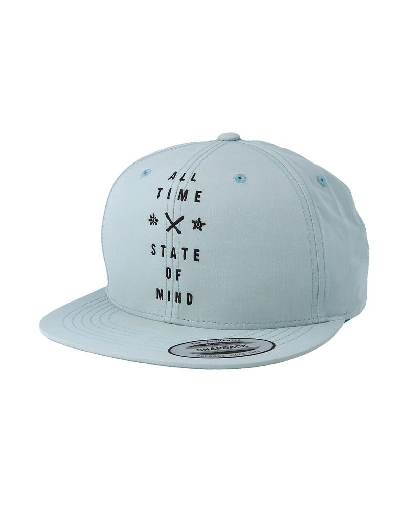 HUGE TAG SNAPBACK CAP  NILE BLUE