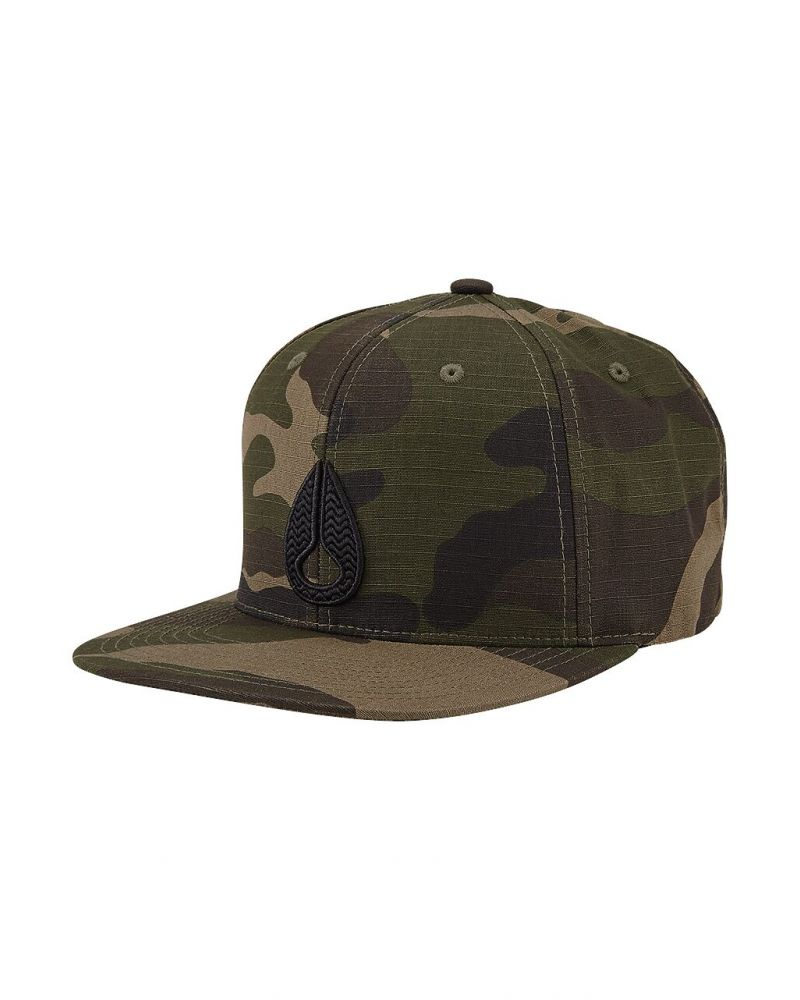 Icon Snapback Hat Woodland Camo