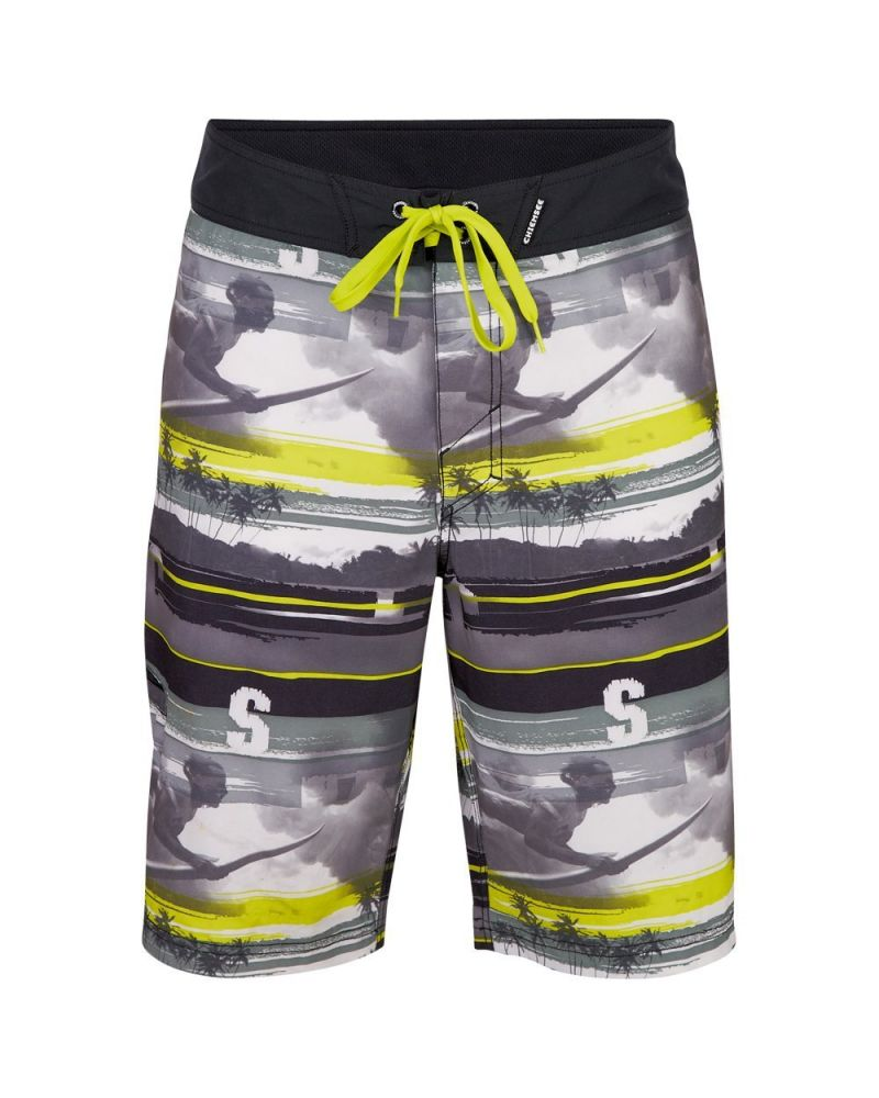 LONNIE FIXED BOARDSHORT - Dirty Stripe Lime