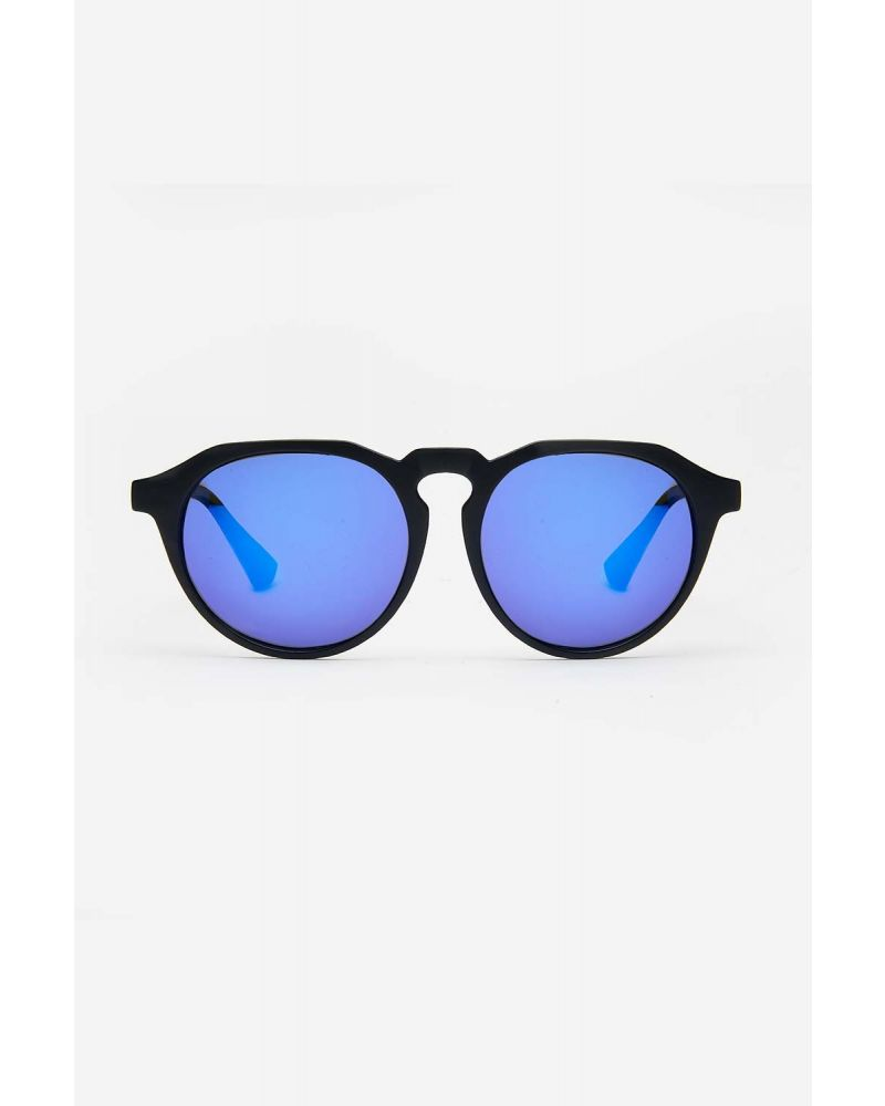 SUNGLASSES MAT BLACK MIRROR BLUE