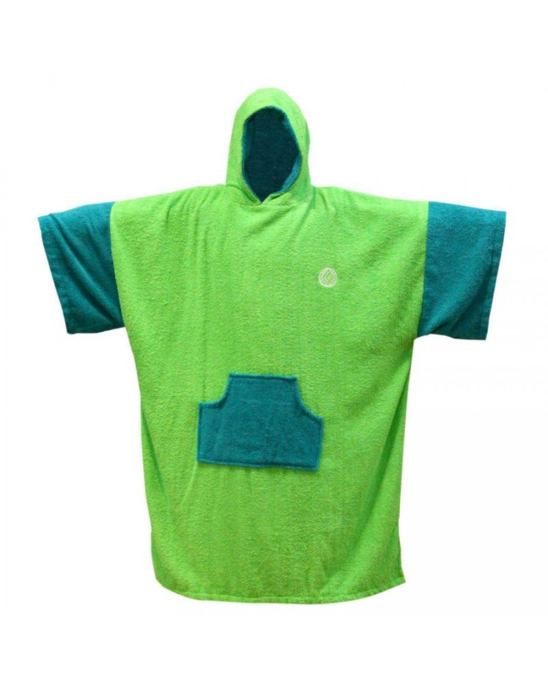Change Robe Poncho Teal-Lime