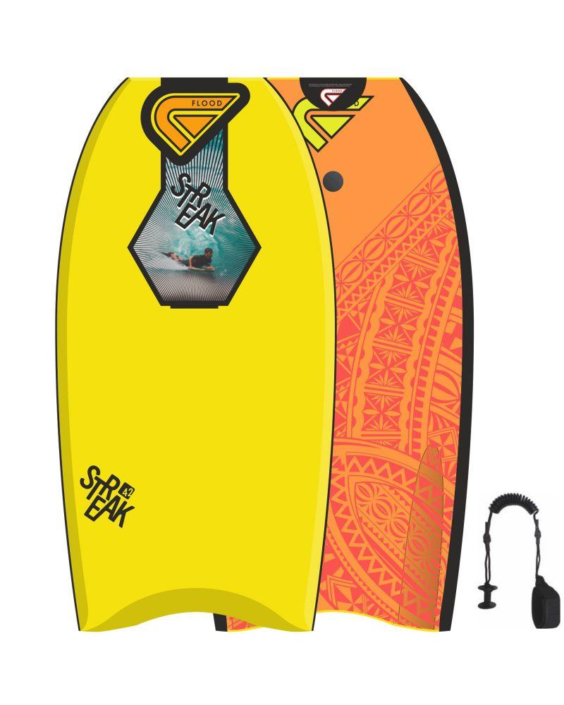 """42""""Bodyboard Streak Yellow Orange Maori"""