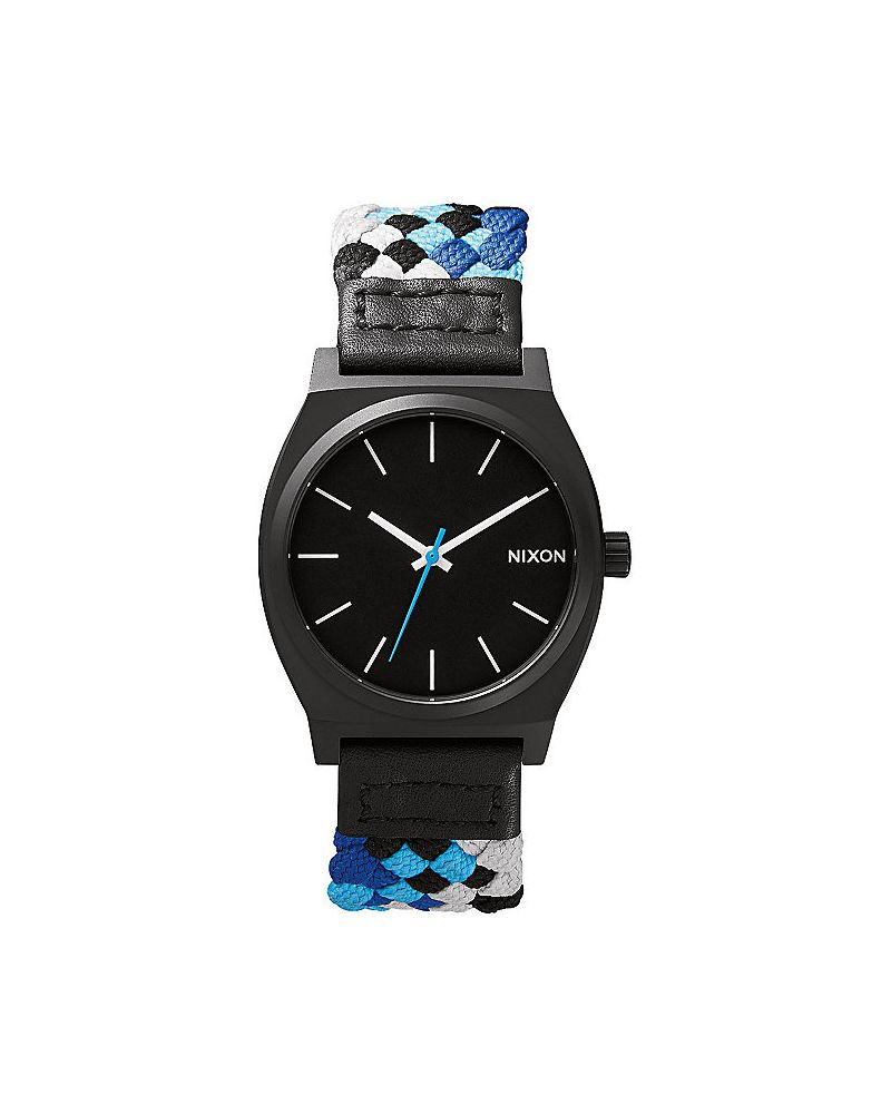 Time Teller Black / Blue Woven