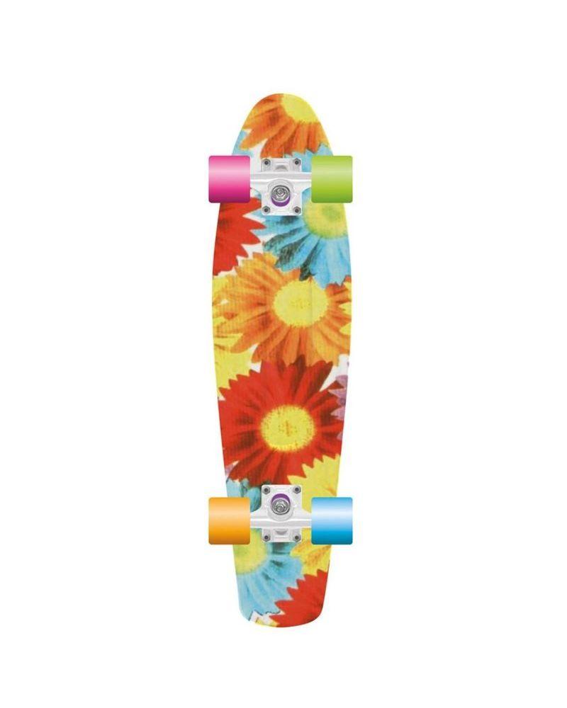 """28"""" Retro Plastic Skateboard - Sunflower"""