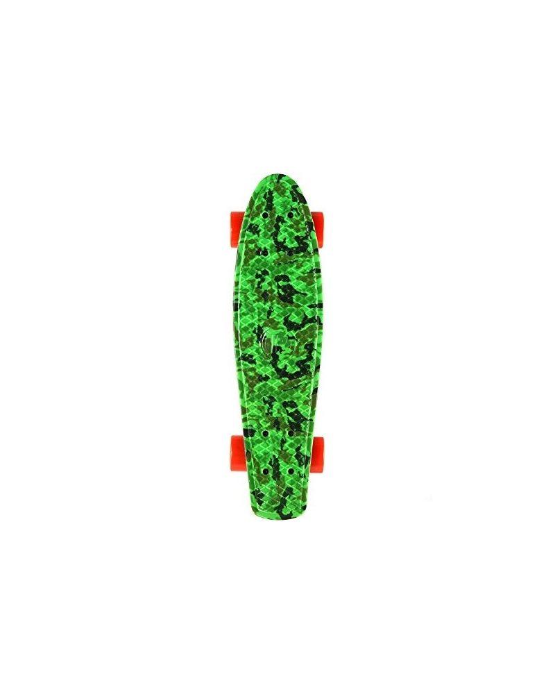 Retro Plastic Skateboard Green Camo 28