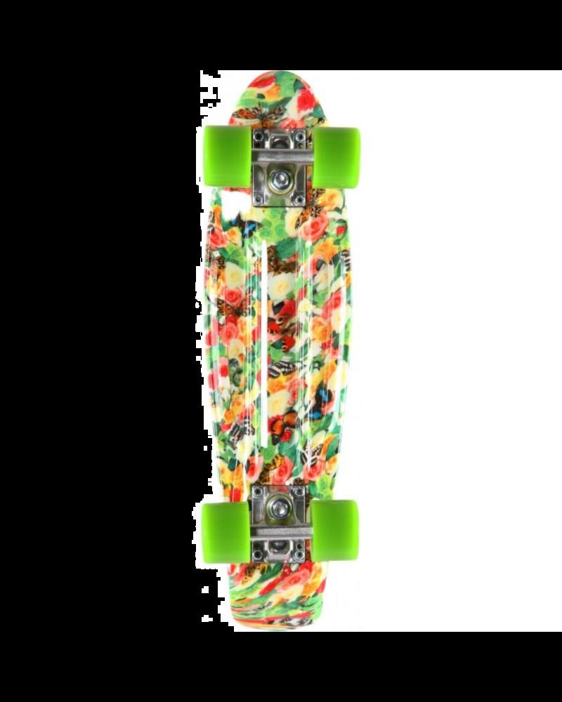 "22.5"" Retro Plastic Skateboard - Floral"