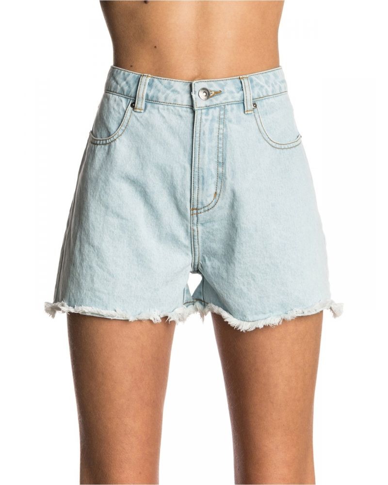 Hot Shot Denim Short - Light Blue