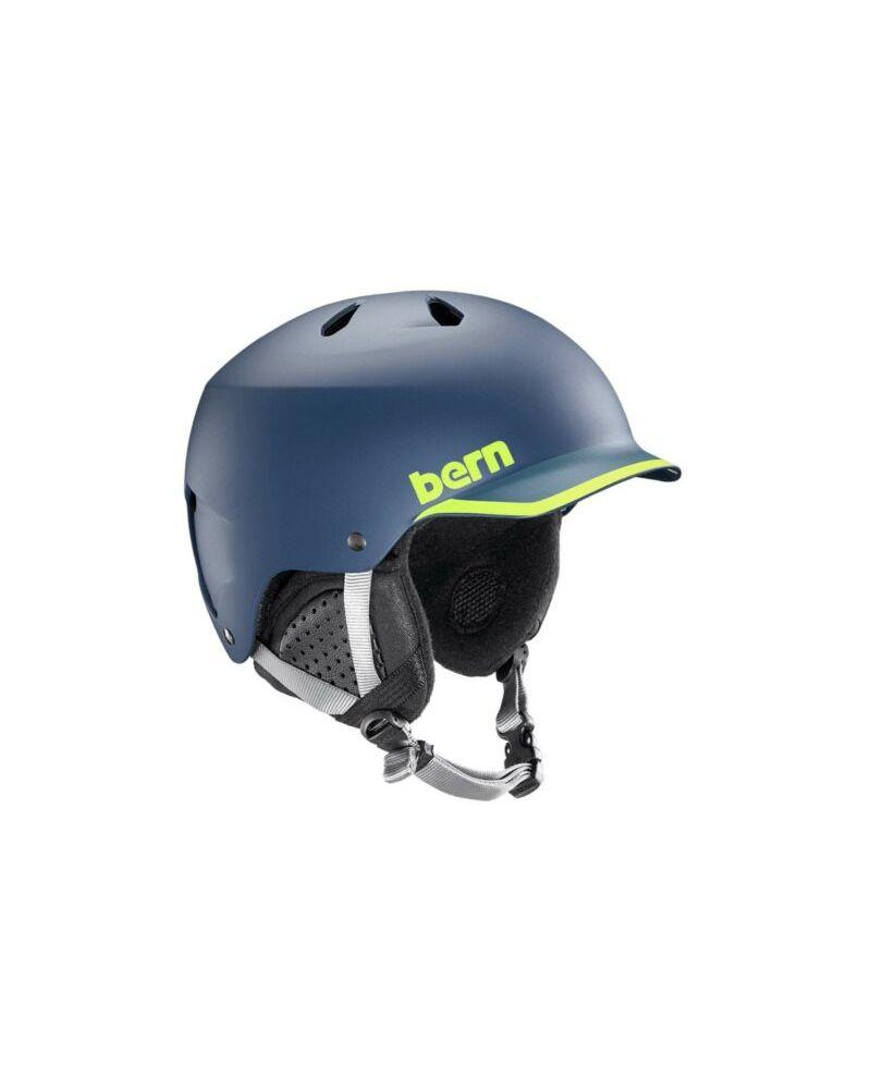 WATTS thin Shell Helmet  Matte Navy/Hyper Green Trim
