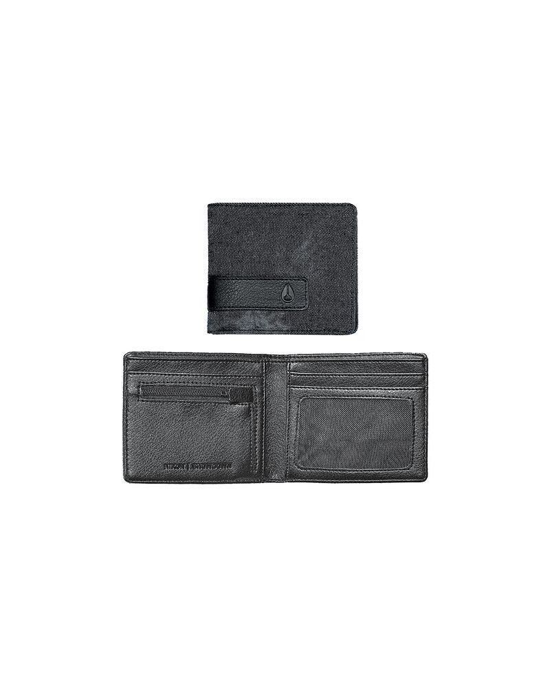 SHOWDOWN BI-FOLD ZIP WALLET - Black Denim