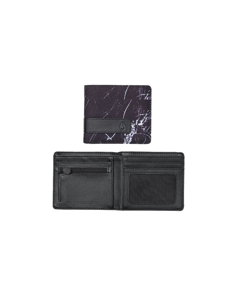 Showdown Bi-Fold Zip Wallet - Marbled Black Smoke