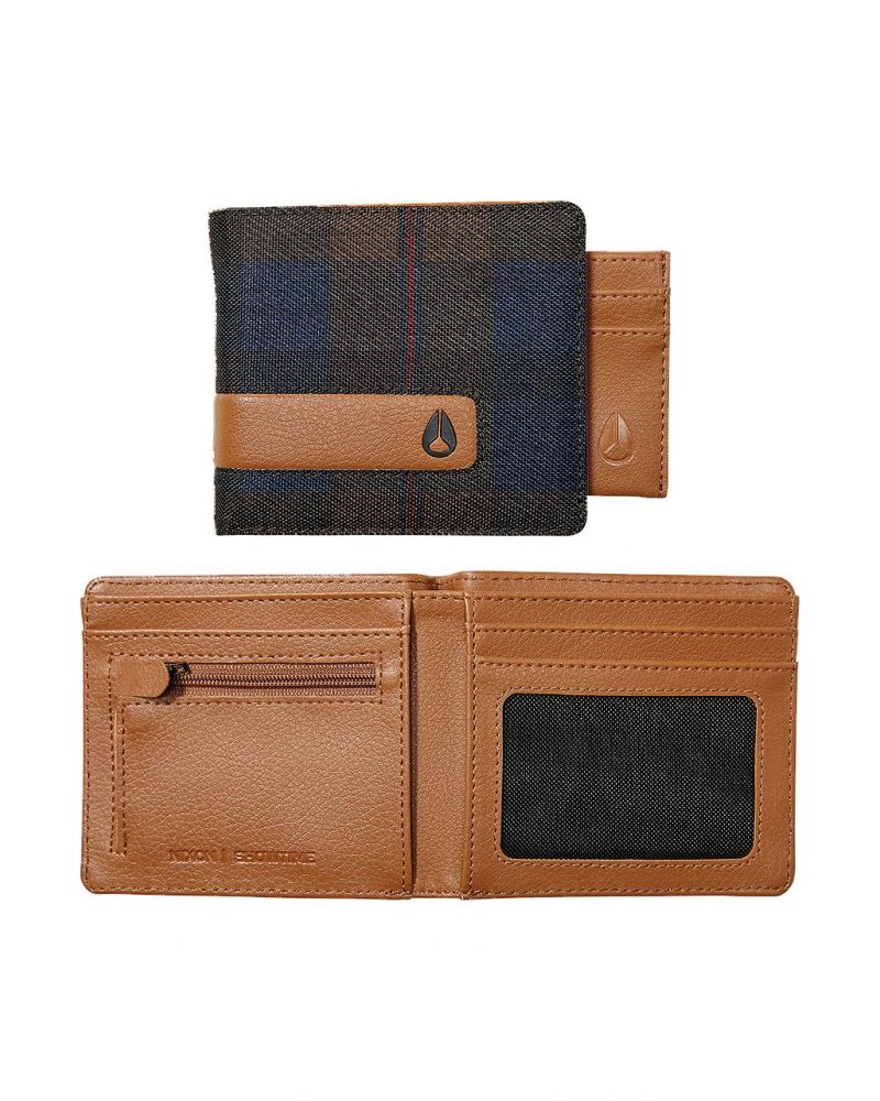 Showtime Bi-Fold ID Zip Wallet - Plaid