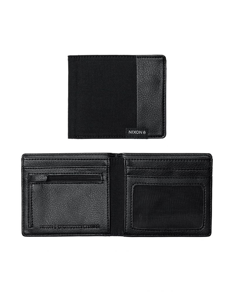 Showdown Canvas Bi-Fold Wallet - Black