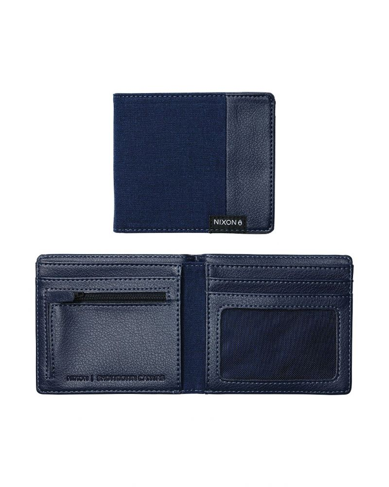 Showdown Canvas Bi-Fold Wallet - Navy