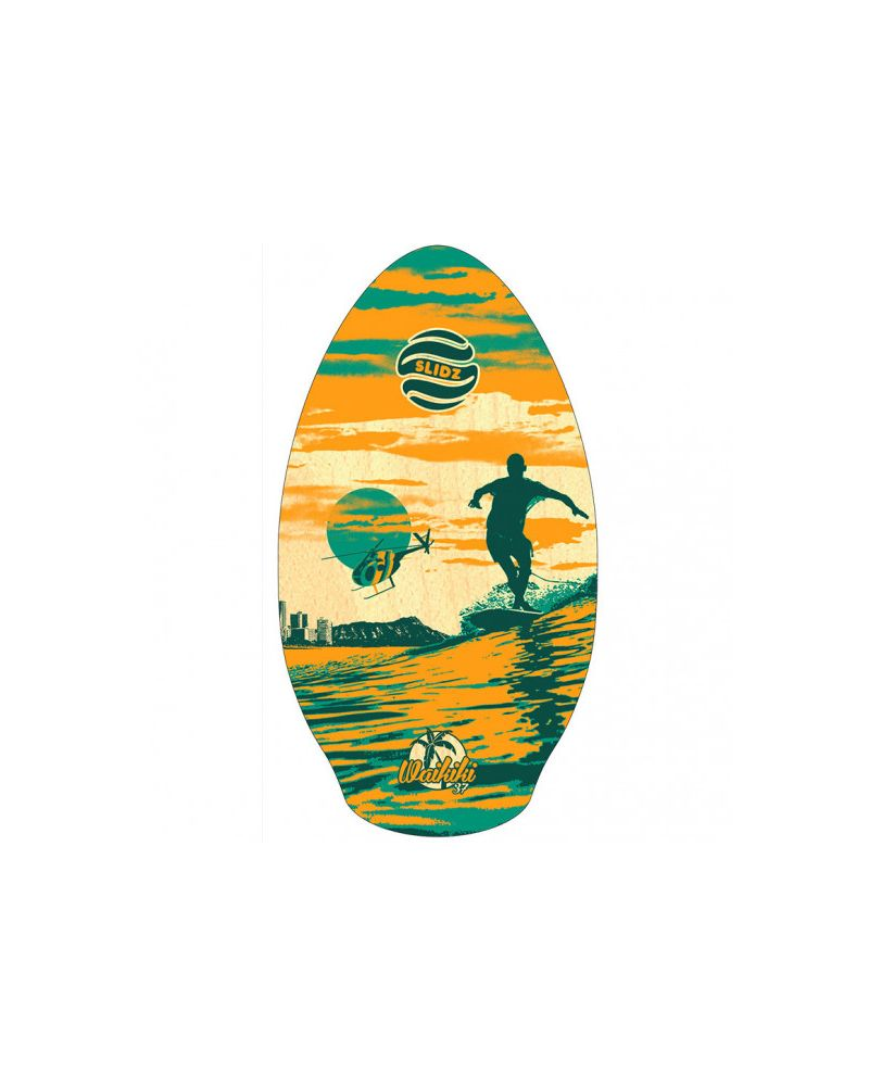 37 Skimboard Wood WAILUKU/ waikiki RED/TEAL