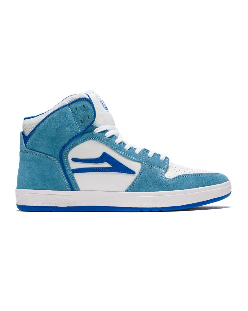 TELFORD WHITE/LIGHT BLUE SUEDE