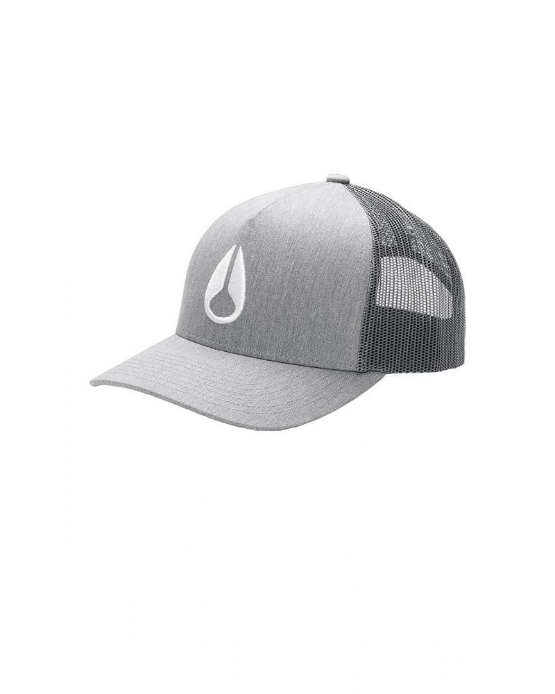ICONED TRUCKER HAT - Heather Gray