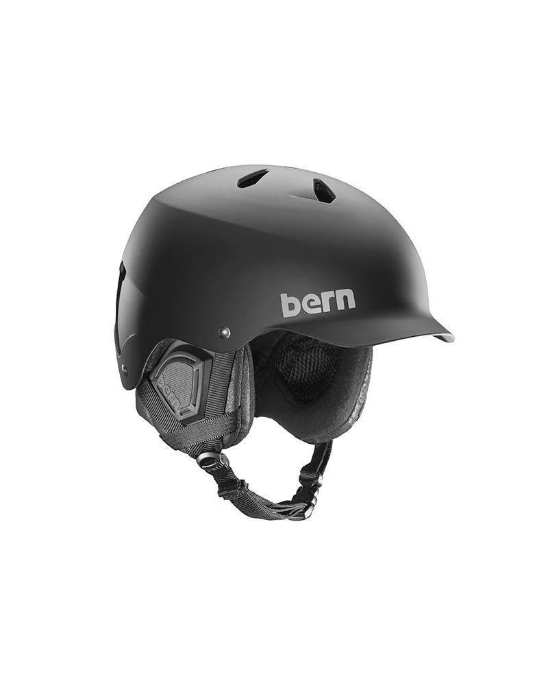 BERN WATTS - Matte Black + Black Liner   XXL/XXXL