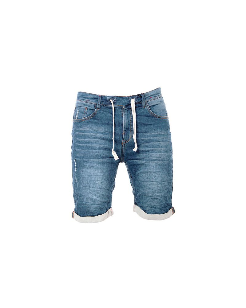 MEN JOGGJEAN SHORT - Washed Blue